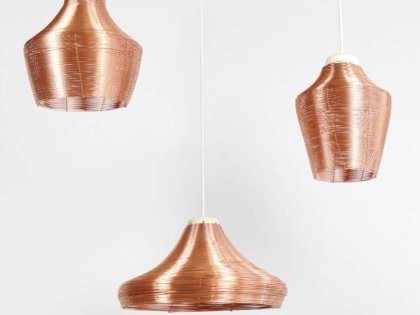 Three variations of the braided copper lamps . . #3