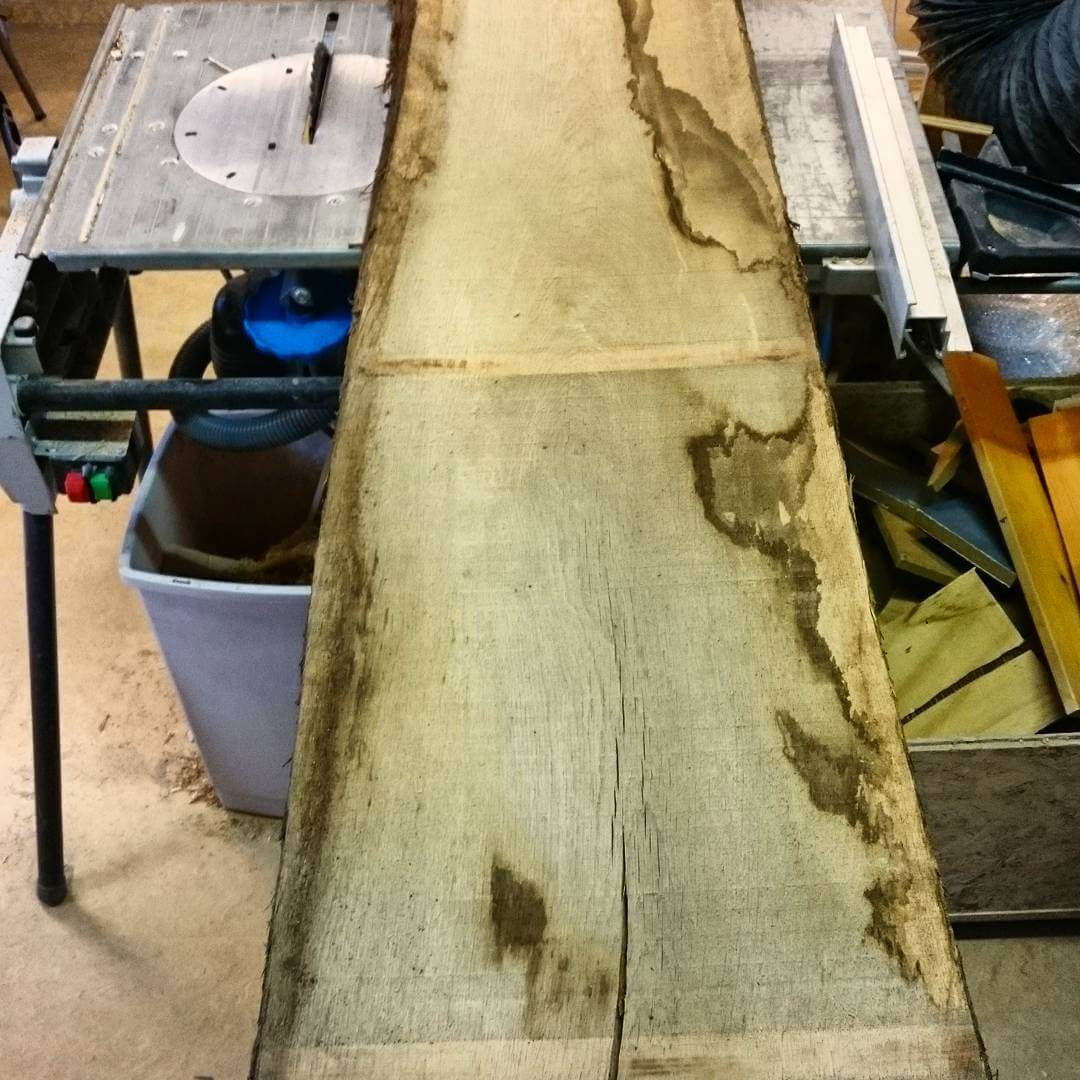 Let's transform this large piece of #solid #oak into some nice #furniture #studiolorier