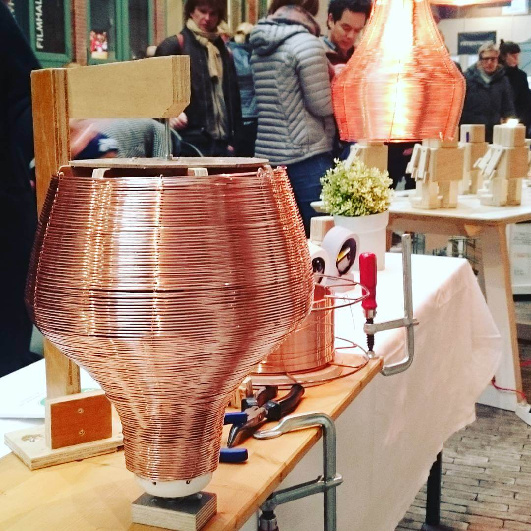 Finished :) #copper #lampshade #pendant #weaving #studiolorier