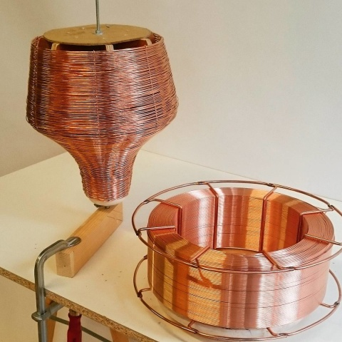 #copper #winding #filter #studiolorier #lamp #pendant