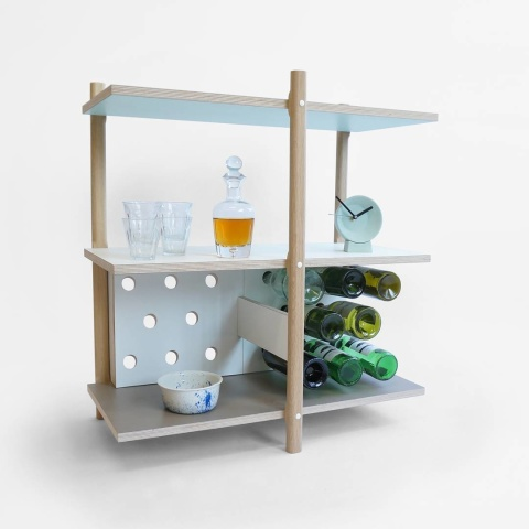 Stack #furniture for all your #drinks and space for 16 #wine #bottles #modularshelving #studiolorier