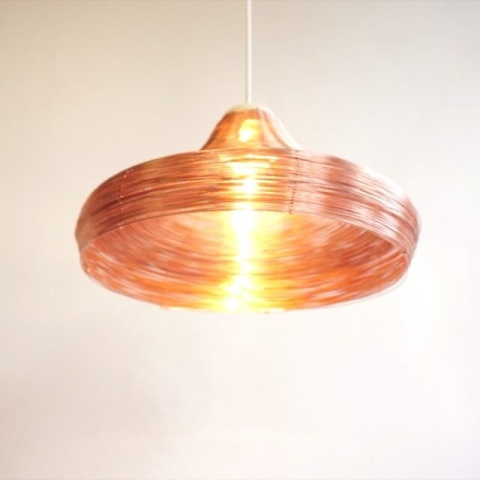 Warm color for the #copper #pendant #designlamp #copperdesign #handwoven #studiolorier