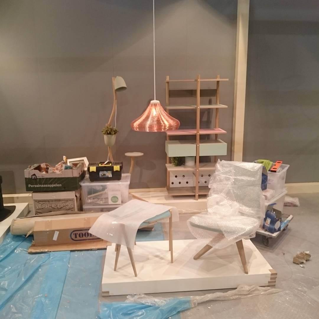 Nearly finished #salonedelmobilemilano #salonesatellite #isalone #fuorisalone #studiolorier #standbuilding