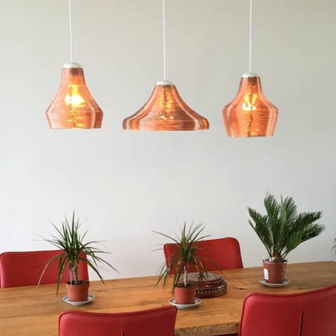 Another happy customer of the #copper #lamps #pendant #light #livingroom #studiolorier