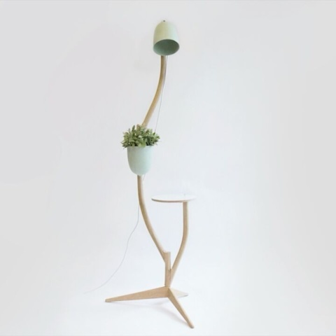 The branch-out, a multipurpose #furniture for #table #lamp and #flowertop. can be #rearranged to your own #taste. #studiolorier