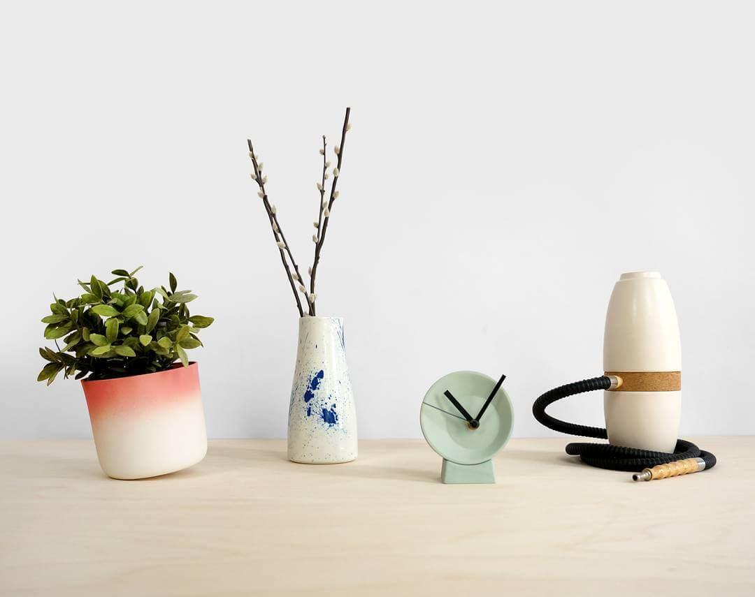 Some random ceramics #Flowerpot #vase #clock #shisha . . #hookah #time #flowers #pot #design #green #splash #dutchdesign #accessoires #ceramics #newdesign #news #010 #handmade #Rotterdam #Rio #summer #olympics #lorier