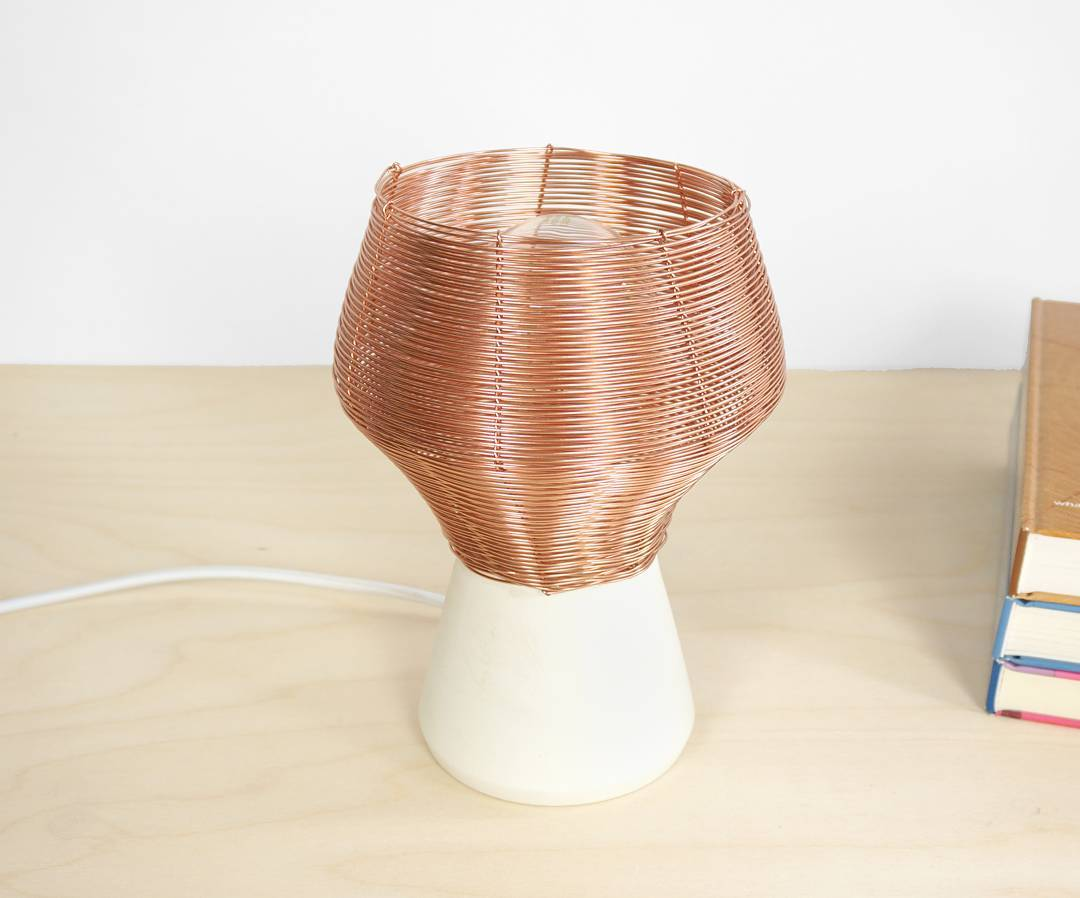 New copper side lamp, now available on https://studiolorier.com/product/copper-side-lamp/