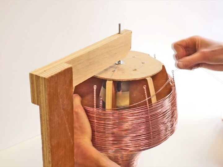 Each copper lamp is carefully woven. See the process fast forwarded in this movie
