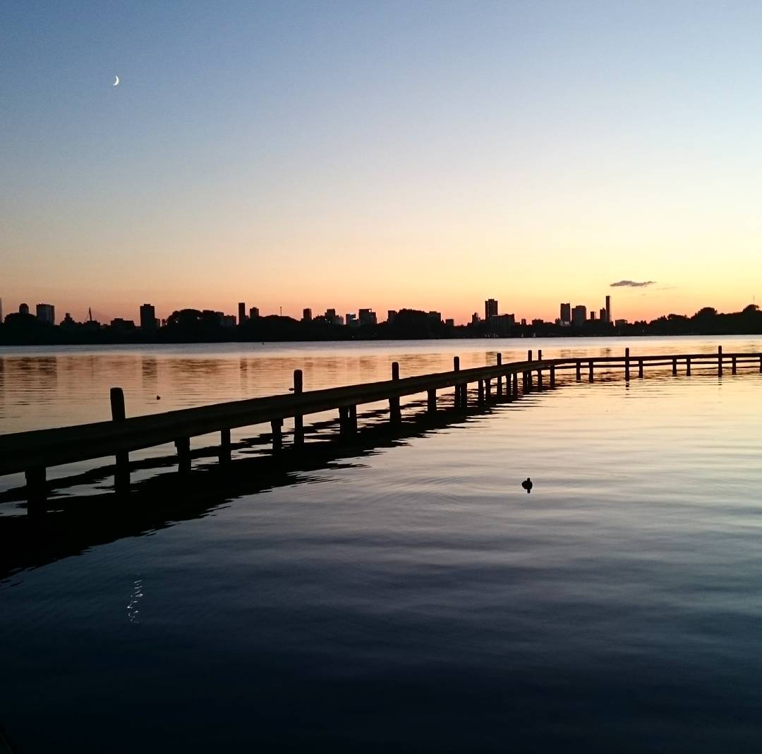 Great view during my evening run in Rotterdam @rottergram