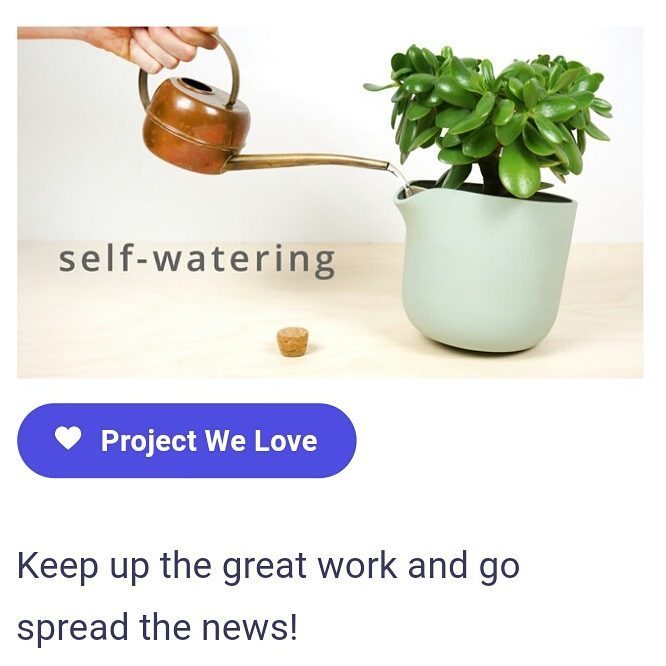 Kickstarter just selected the as one of the projects they love. Thanks
