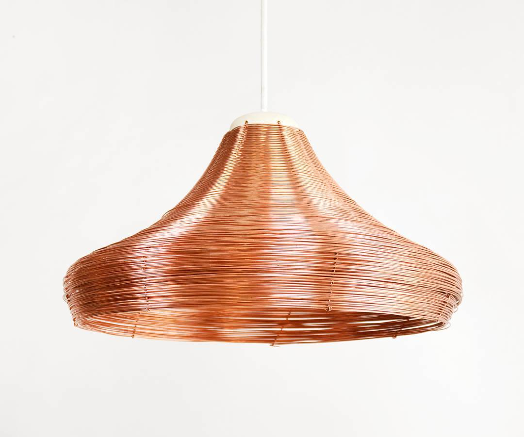 Shine some light in these dark evenings, with the copper braided pendant lamps