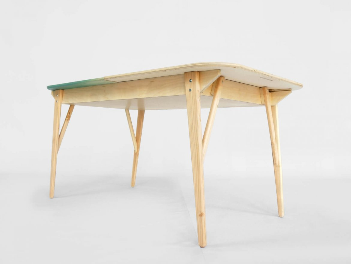 F06 Tableworks  Bottom  Desk And Table In One Table With Drawer Vintage  Lorier Dinnertable U2014 Studio Lorier