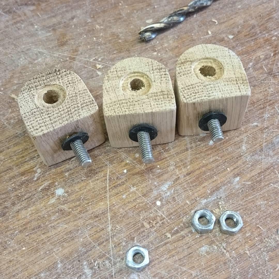 Finishing up some oak furniture parts