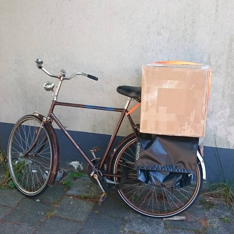 Heading to the post office in style on this sunny day
