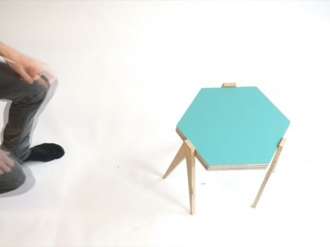 Our slide table is an adjustable side table, than can be reconfigured ij many shapes