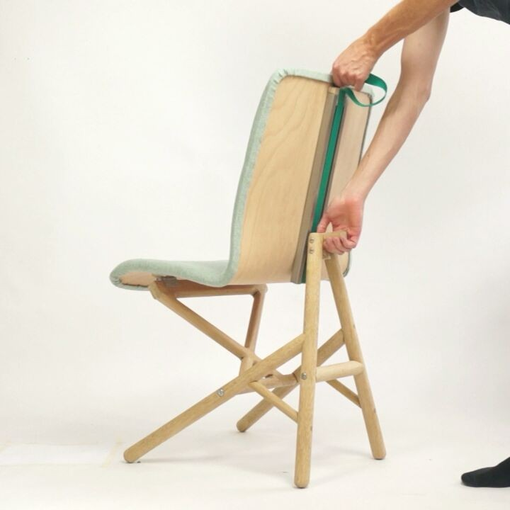 Transforming a lounge chair into a desk/dinner chair in progress