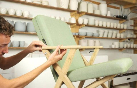 The prototype of the Hybrid Chair was fully made in our own studio