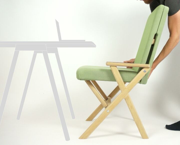 The Hybrid Chair, relaxing and active seating in one! Ideal for any situation and available on Kickstarter untill 22 November