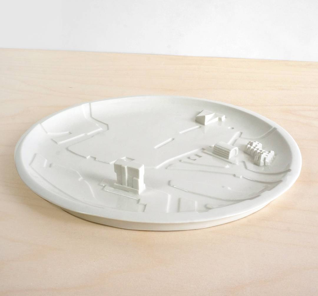 On 3rd place: the Rotterdam City Plate. Modelled after our hometown, including the main architecture and canals #010 #2017 #17