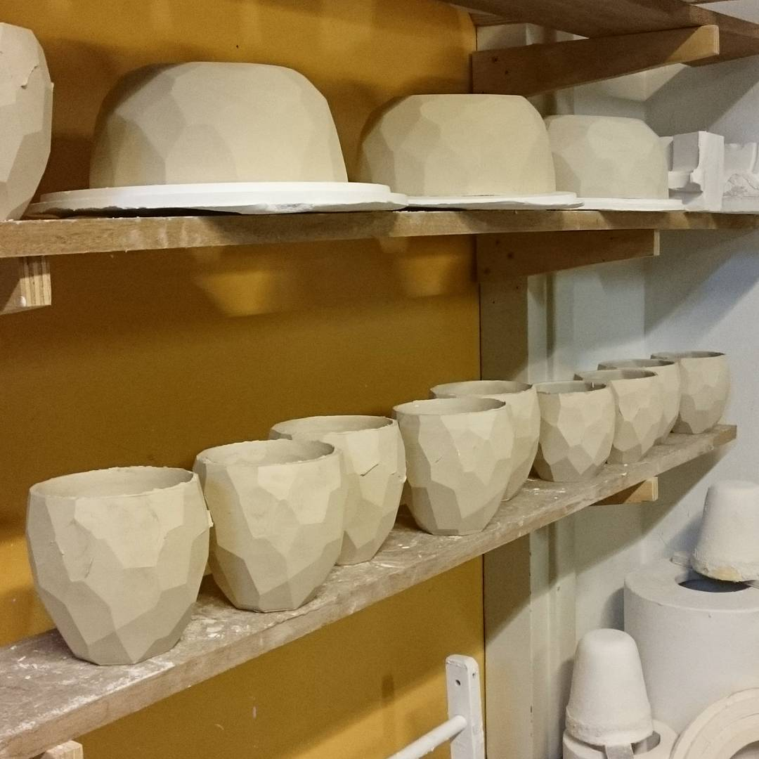 Freshly casted porcelain cups, made with brand new molds, so the details are at its best