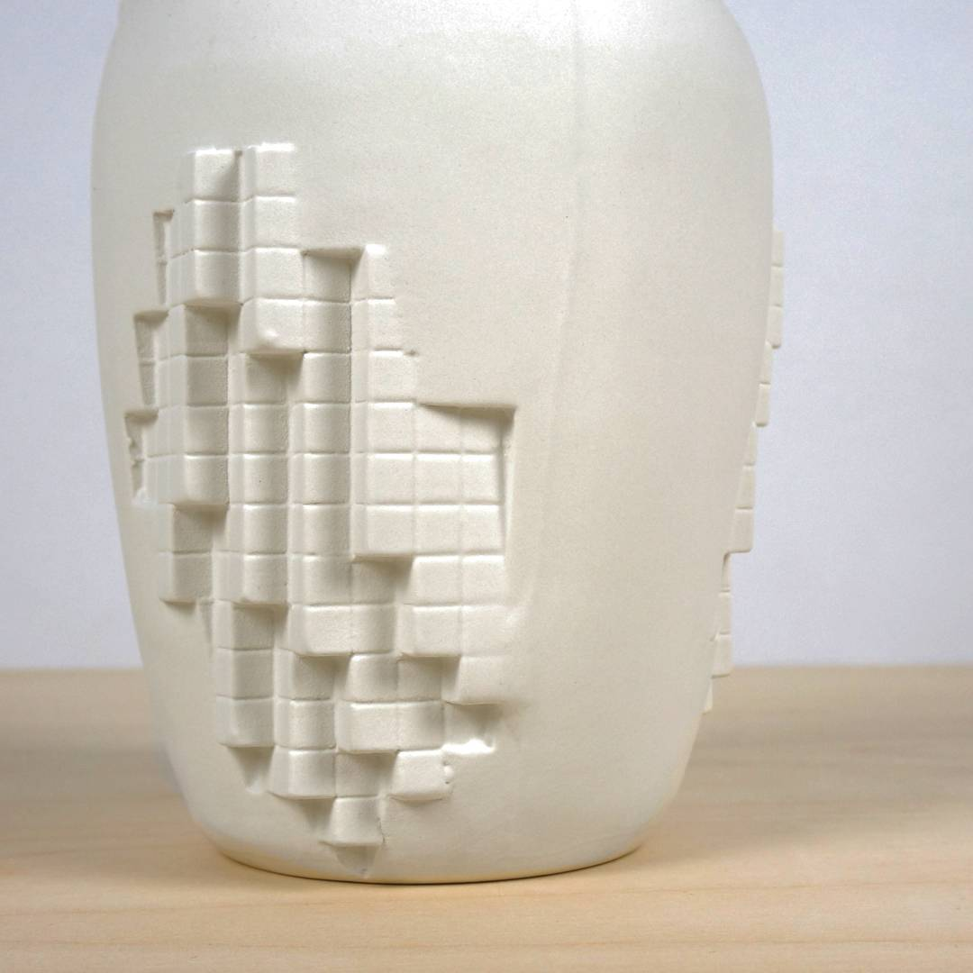 Detail of our recently released pixel vase. A vase where analog and digital come together in one object