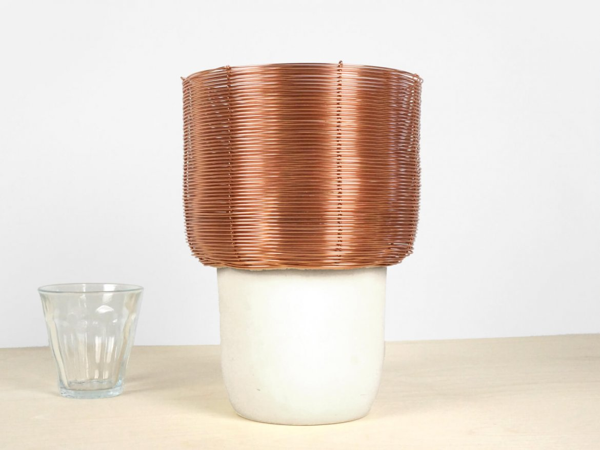C18-3 Reused Slats in use lamp reused material wood slats shine on warm light no waste recycle lorier studio