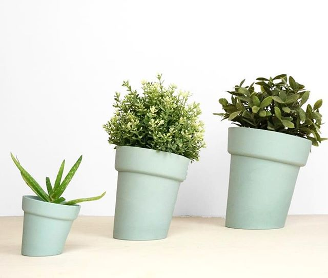 Now available in three sizes; the Distort Flowerpots
