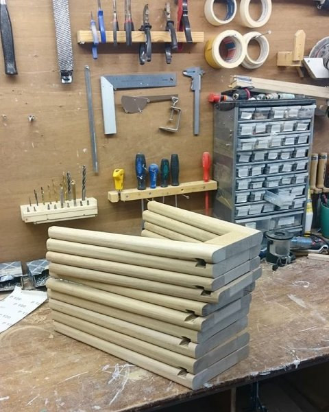Finishing up the frames for the Hybrid Footstool-purpose