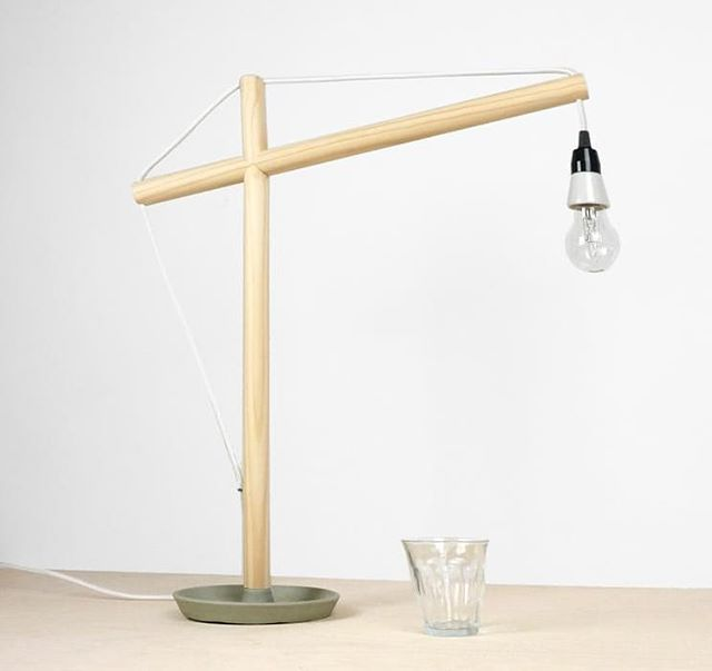 We recently updated the shape of the desk lamp, inspired by construction work