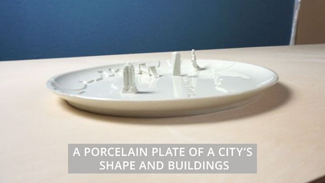 💥Now on Kickstarter💥: The City Plate: A series of porcelain plates with texture and buildings of well known cities around the world. LINK IN BIO