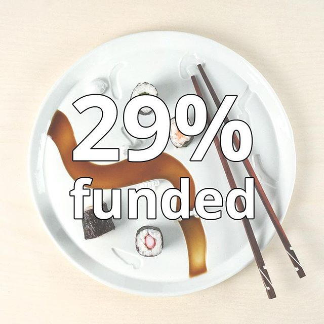 Already €1,764 pledged and 29% funded! Many thanks for supporting us