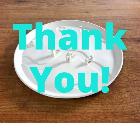 Dear supporters! Thank you very much for supporting our Kickstarter campaign, and letting the collection of City Plates become reality. For us we will get to work and make all the custom molds. We will keep you updated