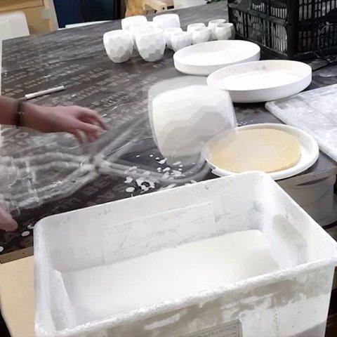 Dip glazing the Poligon Cups