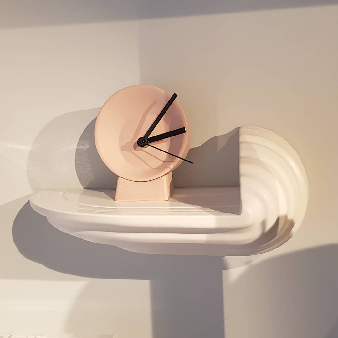 Off Centre clock on display at @groosrotterdam