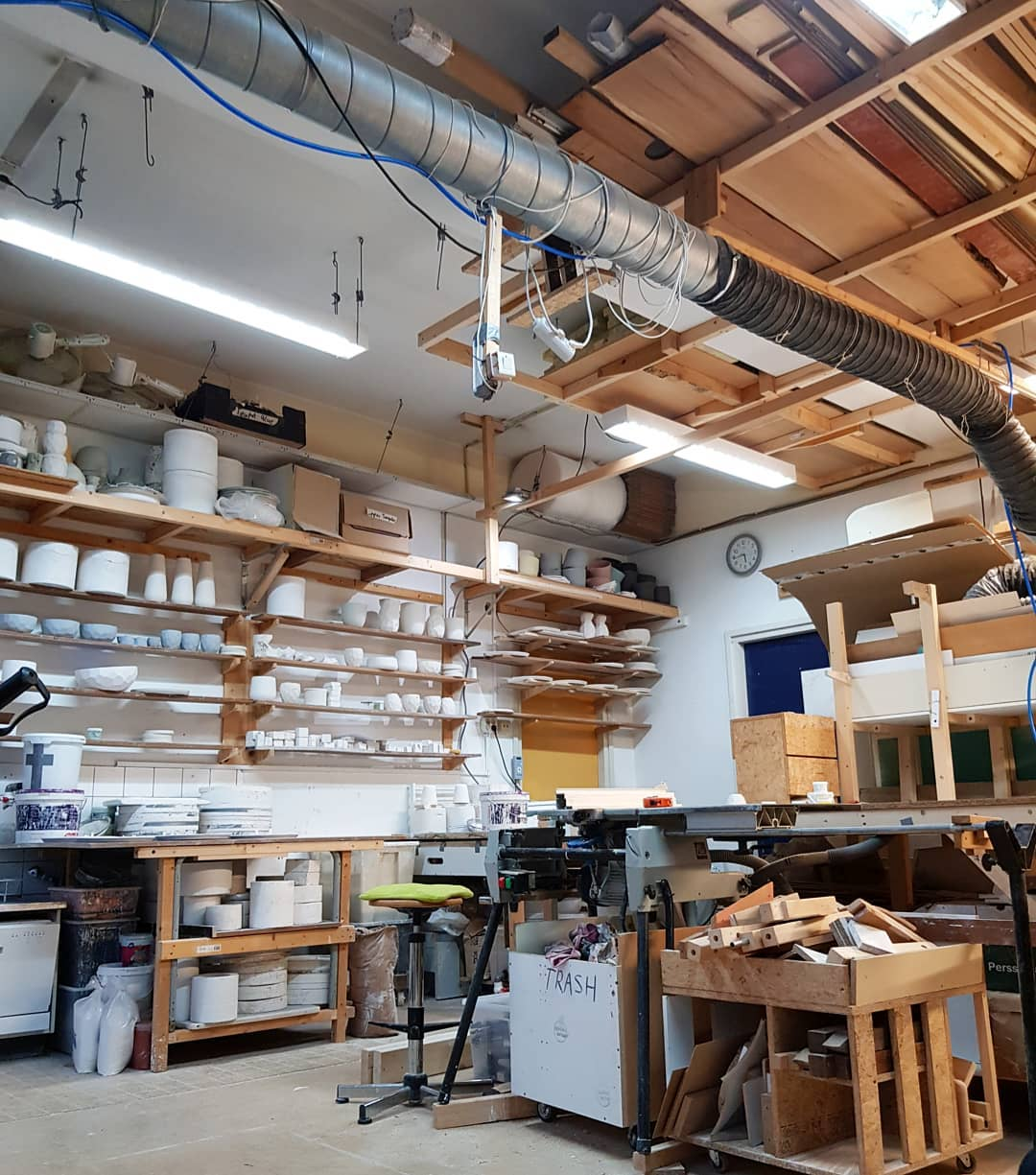 Our studio, where all space is used to the max