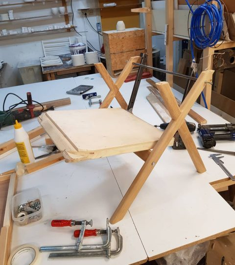 Another chair in the making