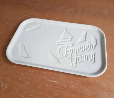 Recently finished a custom made plate with custom inscription