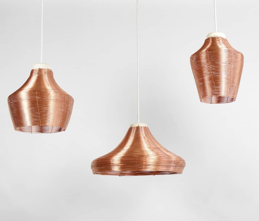 Three shapes, three pendant lamps