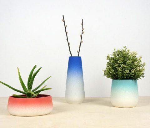 Gradient flowerpots