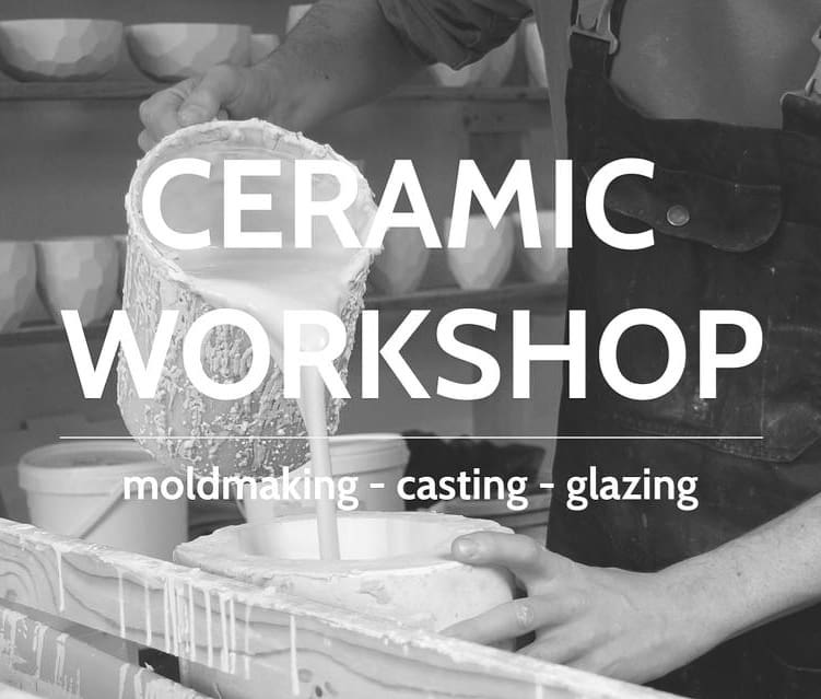 This September we just have a couple spots left for the ceramics molding and casting workshop