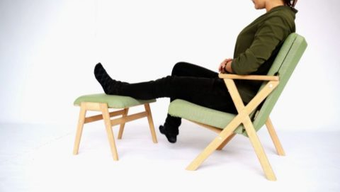 Hybrid Footstool can be changed instantly to a side table. The ideal addition to the Hybrid Chair