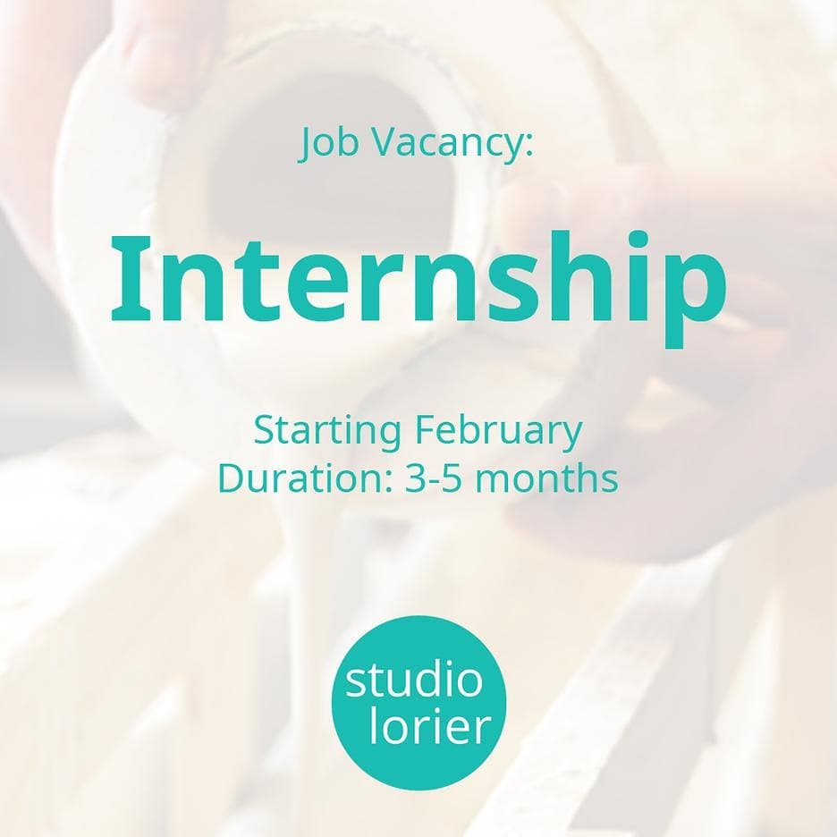 For next year we are looking for an intern, who can help develop new ideas and has some experience with ceramics