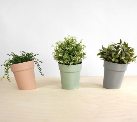 Sideways Flowerpots, available in our shop in different sizes