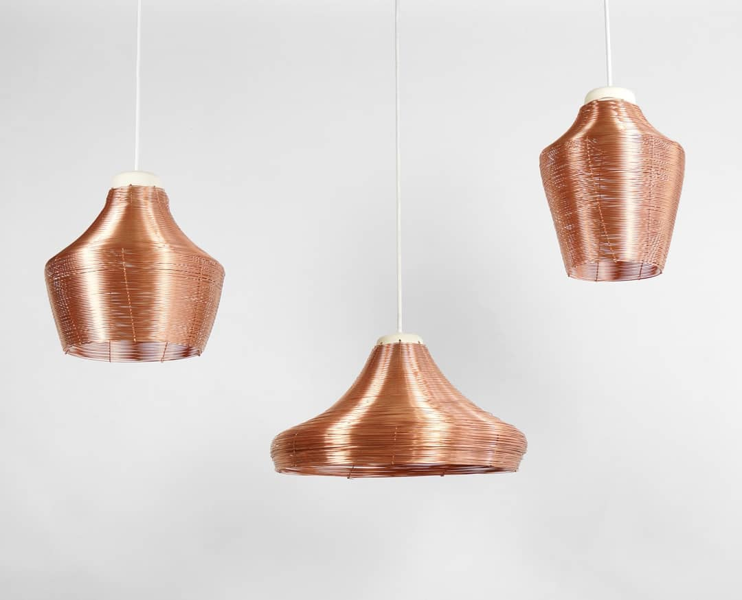Braided Copper Pendant Lamps, in 3 sizes