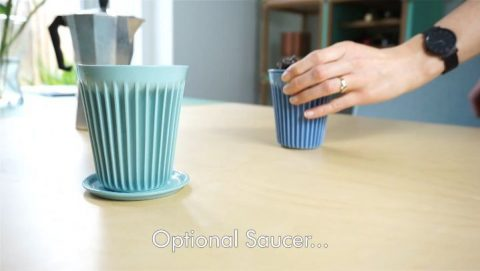 The optional lid and saucer make it a very versatile cup. At home and on the go