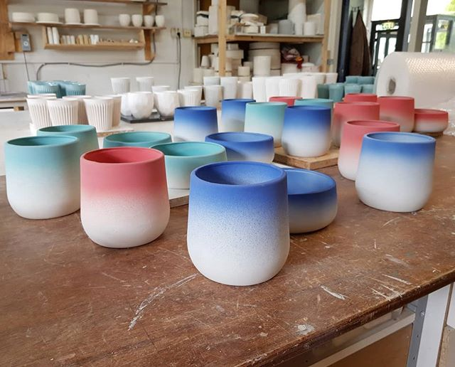 New batch of gradient flowerpots 😲 ready to ship