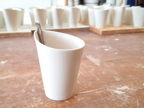 Custom made coffee cups made to order ceramics porcelain molded white3